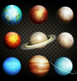 planets of the solar system isolated vector image vector image