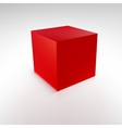 Red cube with reflections and shadows vector image vector image