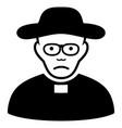 sad church shepherd black icon vector image