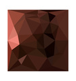 Saddle Brown Abstract Low Polygon Background vector image vector image