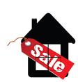 sale label house vector image