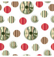 seamless pattern with abstract colorful circles vector image vector image