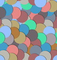 Seamless pattern with paper circles vector image vector image