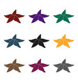 seastar icon in black style isolated on white vector image