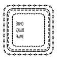 set black silhouette square flat tribal frames vector image vector image