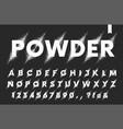 set latin alphabet explosion powder vector image vector image
