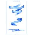 Set of watercolor ribbons vector image vector image