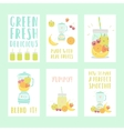 set six nice smoothie cards vector image vector image