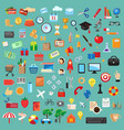 set universal icons flat design vector image