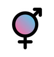 sex icons male and female signs gender symbols vector image vector image