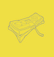 simple outline grey joypad icon on yellow trendy vector image vector image