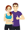 sport man and woman vector image vector image