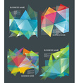 The abstract geometric 3D background vector image vector image