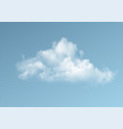 transparent clouds isolated on blue background vector image vector image