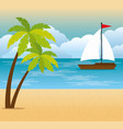 tropical beach summer scene vector image