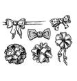 vintage bowknots vector image vector image