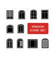 window icons set with red signboard vector image