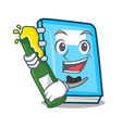 with beer education mascot cartoon style vector image vector image