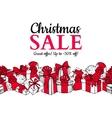 Christmas sale banner Hand drawn holiday vector image