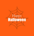 happy halloween background with spider web vector image
