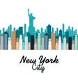 new york city cityscape vector image
