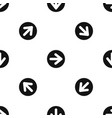 arrow in circle pattern seamless black vector image vector image