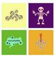 assembly flat icons halloween skeleton sign vector image vector image
