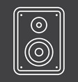 audio monitor line icon sound and speaker vector image vector image