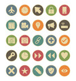 basic ui icon set vector image vector image
