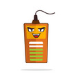 battery mascot smiling while charging to vector image