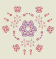 Beautiful intricate abstract floral pattern