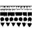 black dripping ink on different shapes vector image vector image