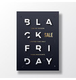 black friday stylish typography banner poster or vector image vector image