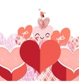 bright lovers heart vector image vector image