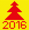 building kit of plastic 2016 z building kit of vector image vector image