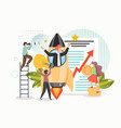business startup with new ideas vision growth vector image