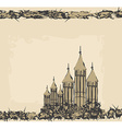 castle in retro style vector image