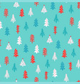 christmas pattern with fir trees vector image