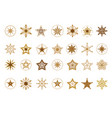 collection of flat snowflakes a stars christmas vector image vector image