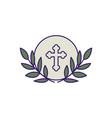 communion wafer fill design vector image vector image