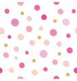confetti polka dot seamless pattern background vector image vector image