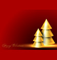 conical abstract gold christmas trees banner vector image vector image