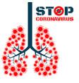 coronavirus respiratory pathogens vector image vector image
