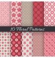 Cute floral seamless patterns vector image