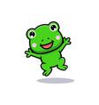 design cute frog jumping