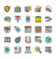 Digital and internet marketing icons set 4
