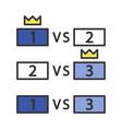esports tournament color icon vector image vector image