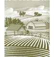 Farm scene landscape vector | Price: 1 Credit (USD $1)