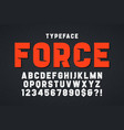 force heavy display font design swatches color vector image vector image