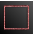 Frame Red Sequins Square Glitter sparkle vector image vector image